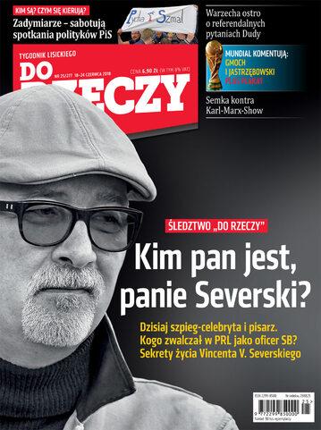 Okładka tygodnika DoRzeczy nr 25/2018 (277)